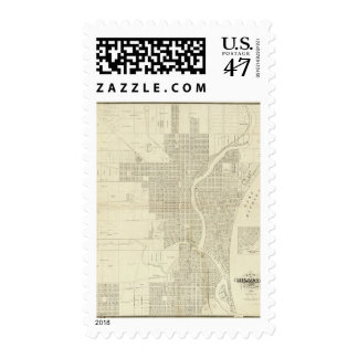 Map of Milwaukee Postage Stamp