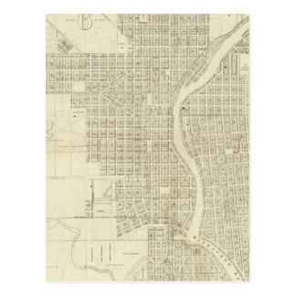 Map of Milwaukee Postcard