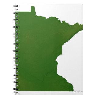 Map of Minnesota 2 Notebook