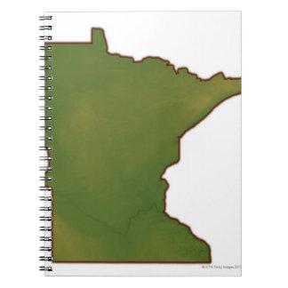 Map of Minnesota Spiral Notebook
