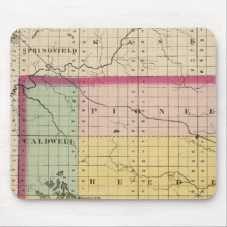 Map of Missaukee County, Michigan Mouse Pad