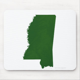 Map of Mississippi 2 Mouse Pad