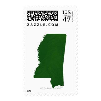 Map of Mississippi 2 Postage