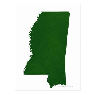 Map of Mississippi 2 Postcard