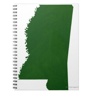 Map of Mississippi 2 Spiral Notebook