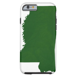 Map of Mississippi 2 Tough iPhone 6 Case