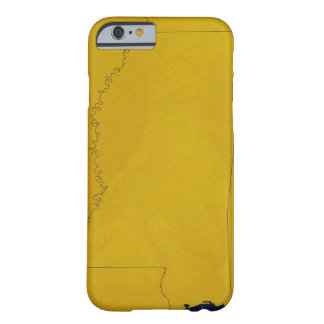 Map of Mississippi Barely There iPhone 6 Case