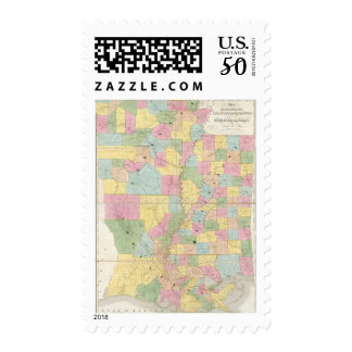 Map of Mississippi, Louisiana & Arkansas Postage