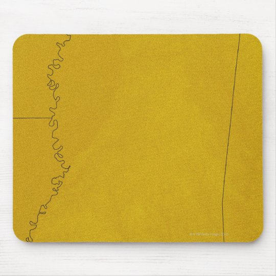 Map of Mississippi Mouse Pad