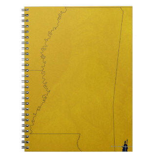 Map of Mississippi Notebook