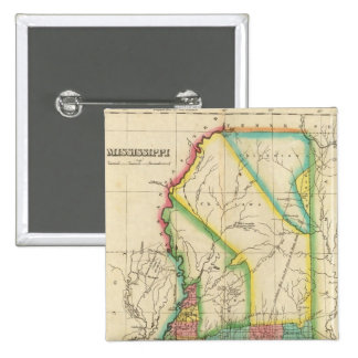 Map Of Mississippi Pinback Button