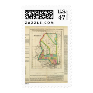 Map Of Mississippi Postage