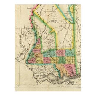 Map Of Mississippi Postcard