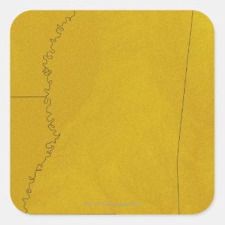 Map of Mississippi Square Sticker