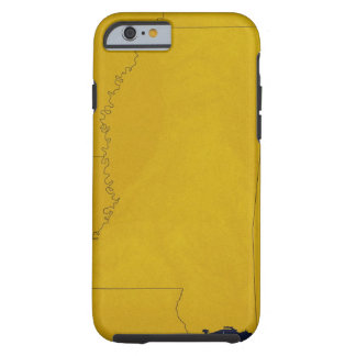 Map of Mississippi Tough iPhone 6 Case