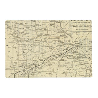 Map of Missouri 2 Laminated Placemat