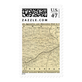 Map of Missouri 2 Postage