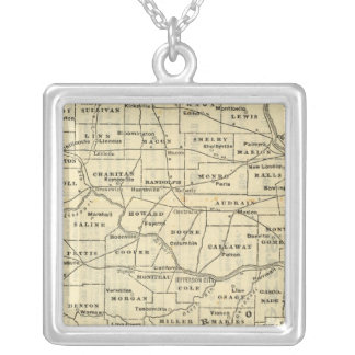 Map of Missouri 2 Silver Plated Necklace