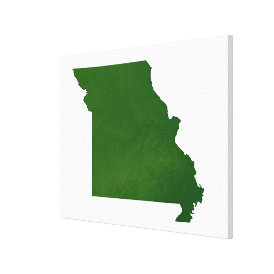 Map of Missouri Canvas Print