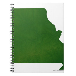 Map of Missouri Spiral Notebook