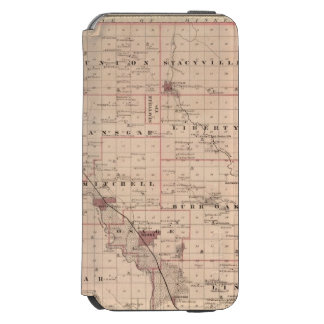 Map of Mitchell County, State of Iowa iPhone 6/6s Wallet Case