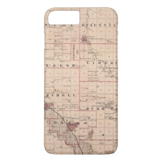 Map of Mitchell County, State of Iowa iPhone 8 Plus/7 Plus Case