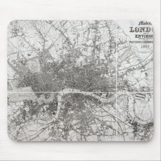 Map of Modern London and its Environs, 1854 Mouse Pad
