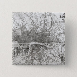 Map of Modern London and its Environs, 1854 Pinback Button