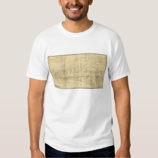 Map of Monmouth County New Jersey (1781) T Shirt