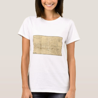 Map of Monmouth County New Jersey (1781) T-Shirt