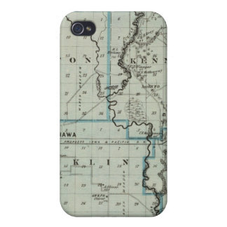 Map of Monona County, State of Iowa 2 iPhone 4 Case