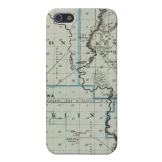 Map of Monona County, State of Iowa 2 iPhone SE/5/5s Cover