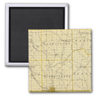 Map of Monroe County 2 Inch Square Magnet