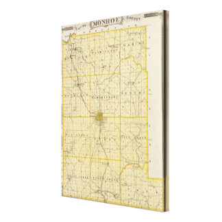 Map of Monroe County Canvas Print
