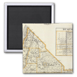 Map of Monroe County, DuQuoin and Waterloo 2 Inch Square Magnet