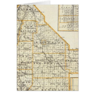 Map of Monroe County, DuQuoin and Waterloo Card