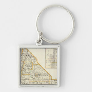 Map of Monroe County, DuQuoin and Waterloo Keychain