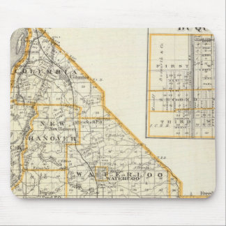 Map of Monroe County, DuQuoin and Waterloo Mouse Pad