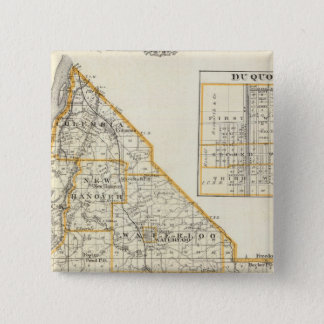 Map of Monroe County, DuQuoin and Waterloo Pinback Button