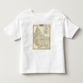 Map of Monroe County, DuQuoin and Waterloo T-shirt