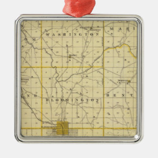 Map of Monroe County Metal Ornament