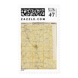 Map of Monroe County Postage