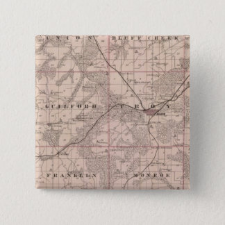 Map of Monroe County, State of Iowa Pinback Button