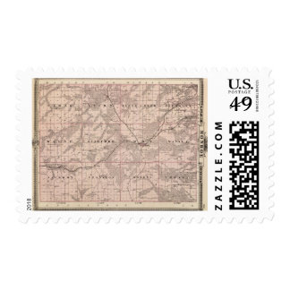 Map of Monroe County, State of Iowa Postage