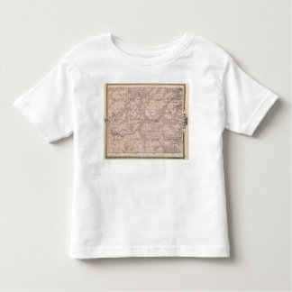 Map of Monroe County, State of Iowa T Shirt