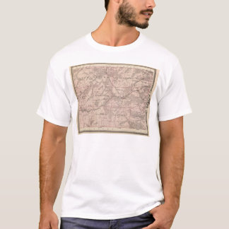 Map of Monroe County, State of Iowa T-Shirt