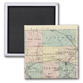 Map of Monroe County, State of Wisconsin 2 Inch Square Magnet