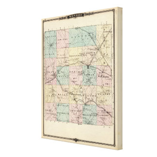 Map of Monroe County, State of Wisconsin Canvas Print
