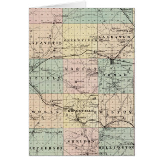 Map of Monroe County, State of Wisconsin Card
