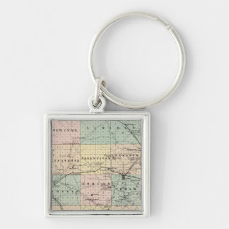 Map of Monroe County, State of Wisconsin Keychain